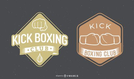 Kick Boxing Badges Set