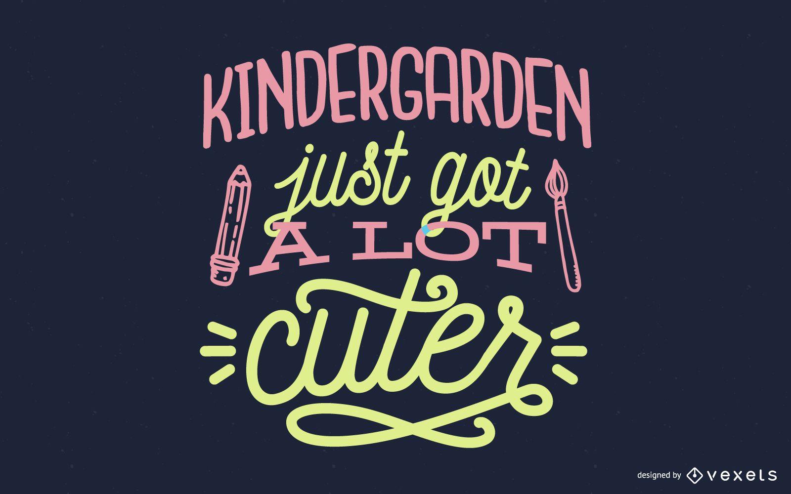 Kindergarten bekam gerade viel niedlicheres Schriftzugdesign