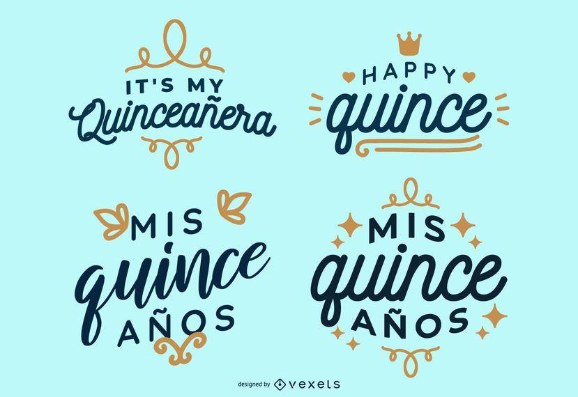 Quince Lettering Design Set