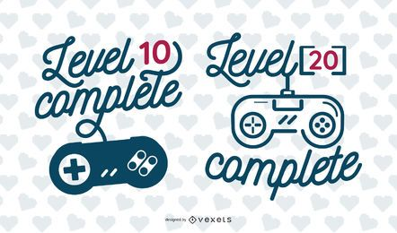 Level Complete Lettering Illustration