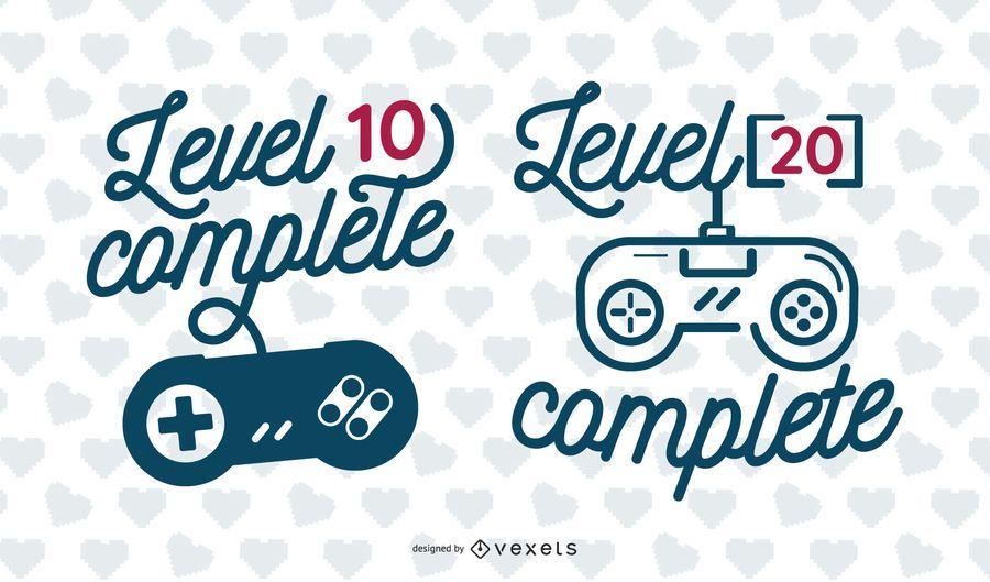 Level Complete Lettering Illustration