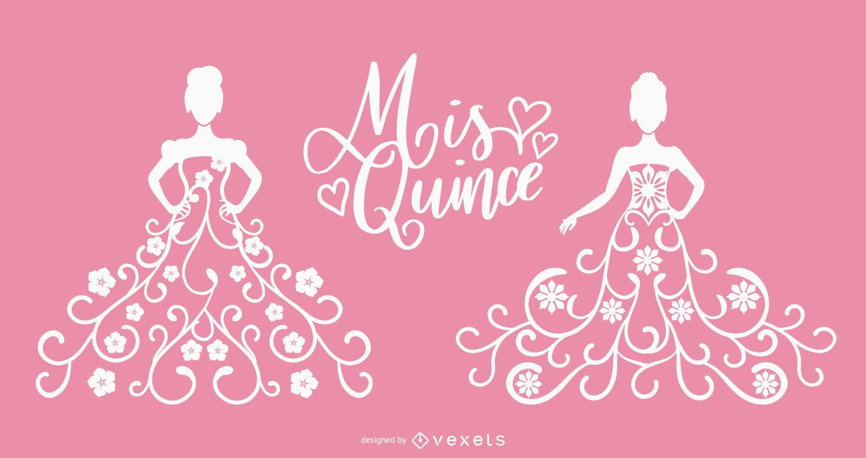 Mis Quince Delicate Dress Silhouette