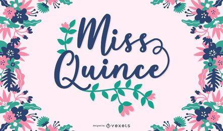Diseño de cartel de miss quince