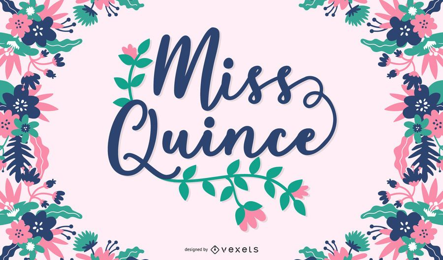 Miss quince poster design