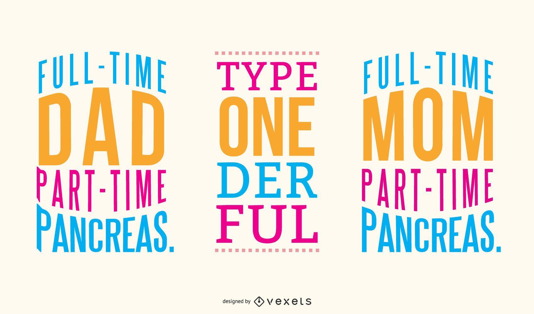 Diabetes lettering set