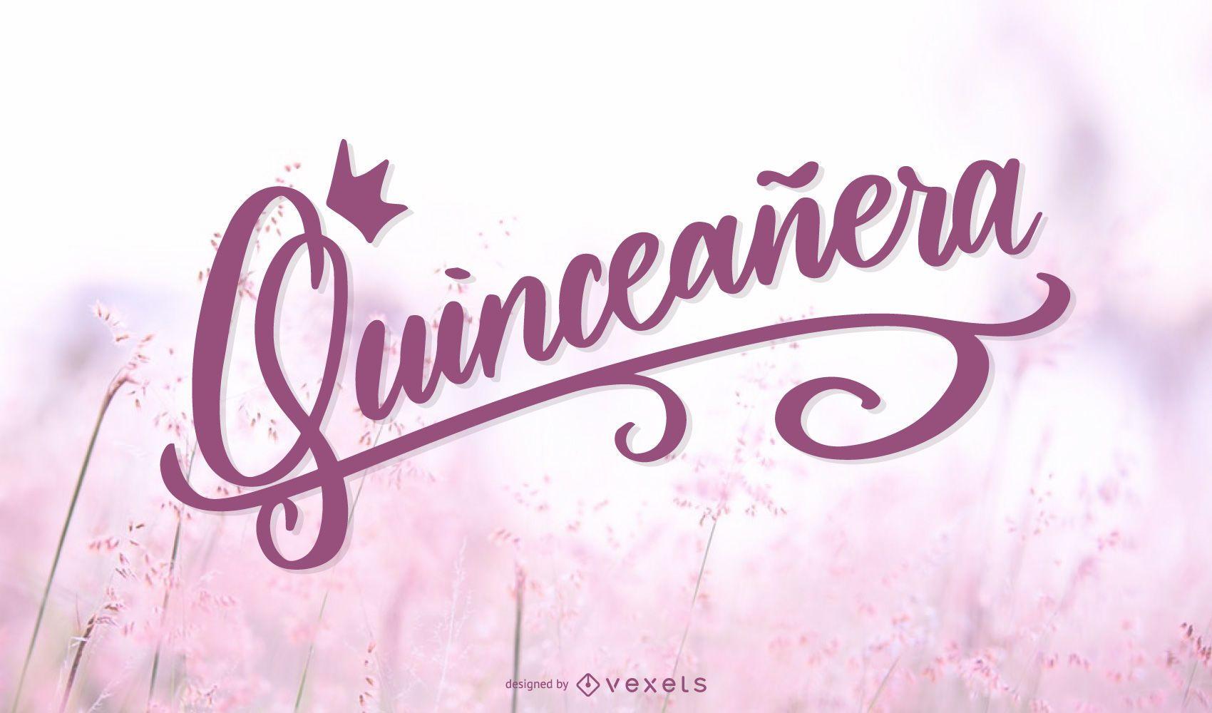 Quinceañera poster design