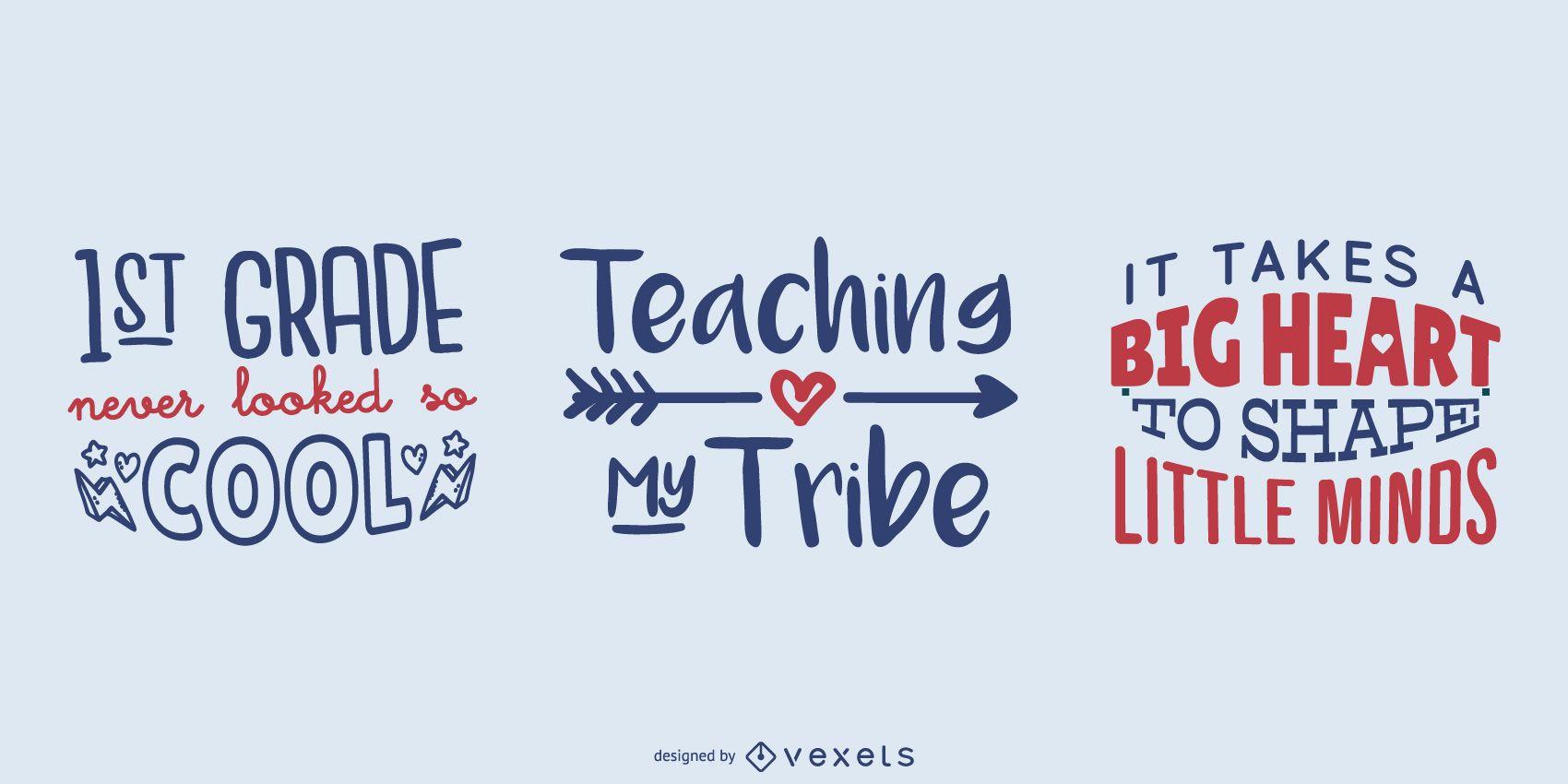 Teaching lettering set