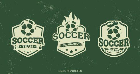 Conjunto de insignias de fútbol