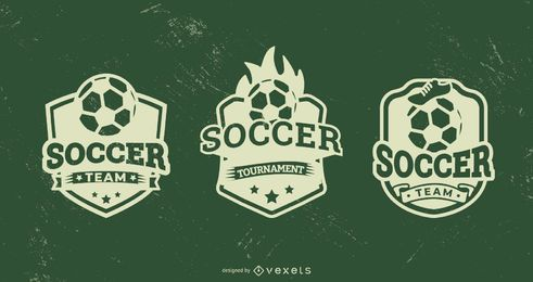 Soccer badge set