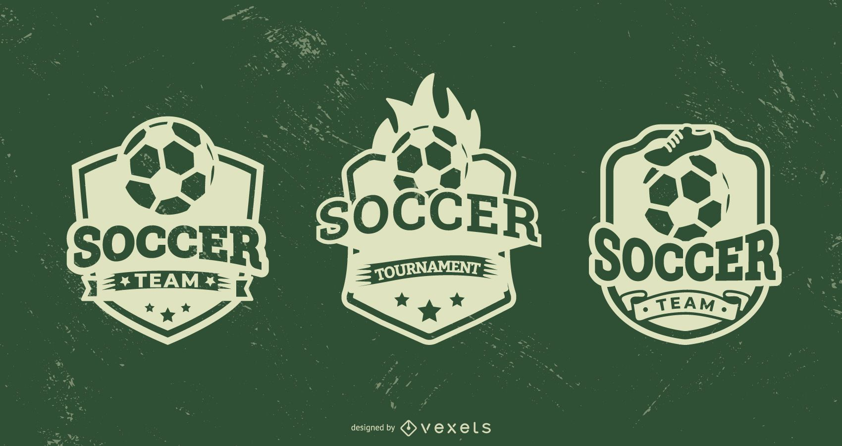 Soccer badge set