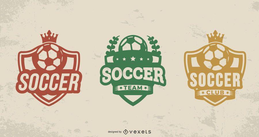 Soccer ball badge set