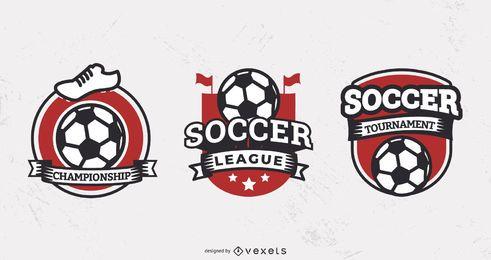 Conjunto de emblemas da liga de futebol