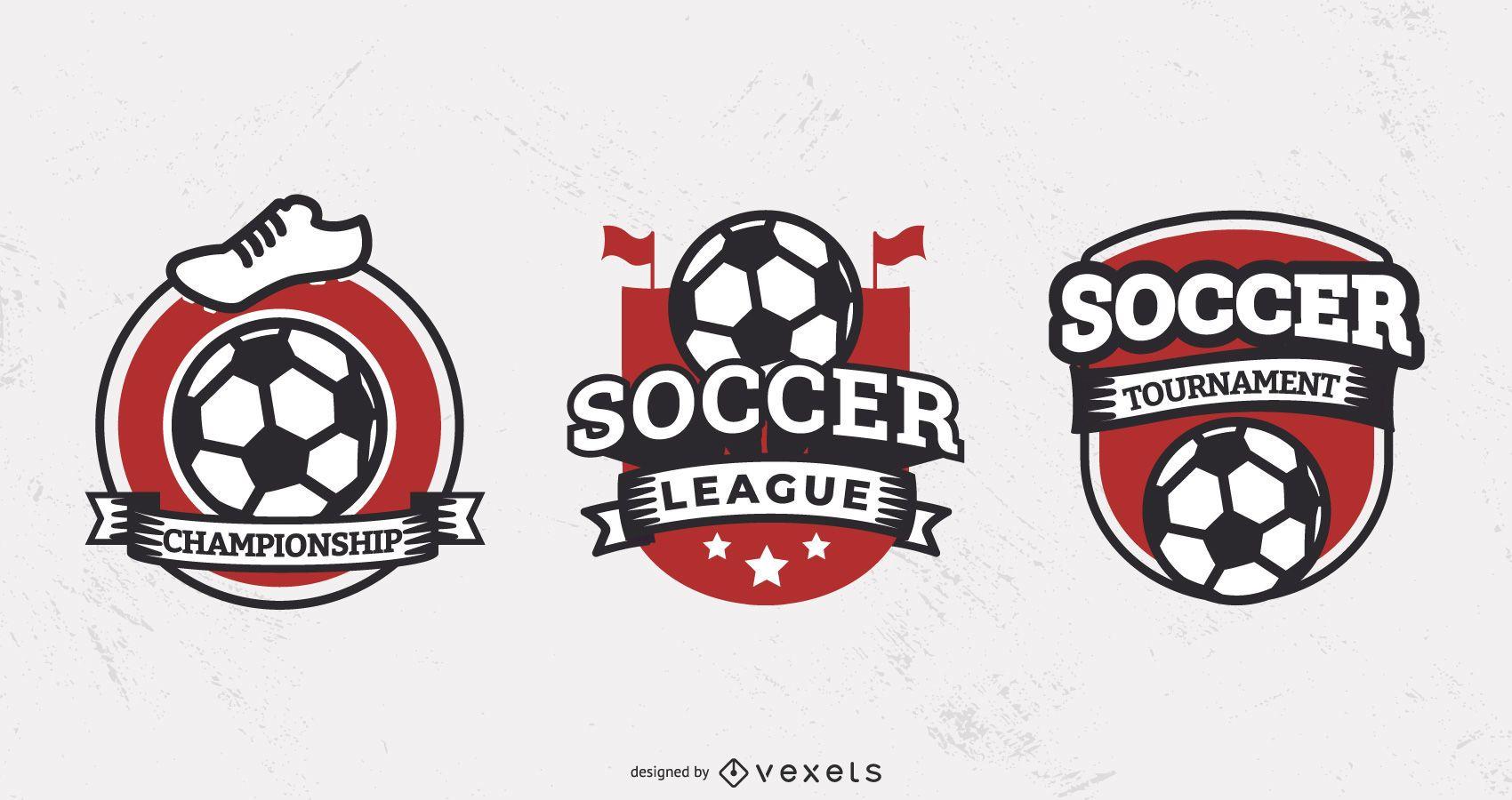 Soccer league badge set