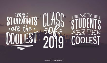 Coolest students lettering set