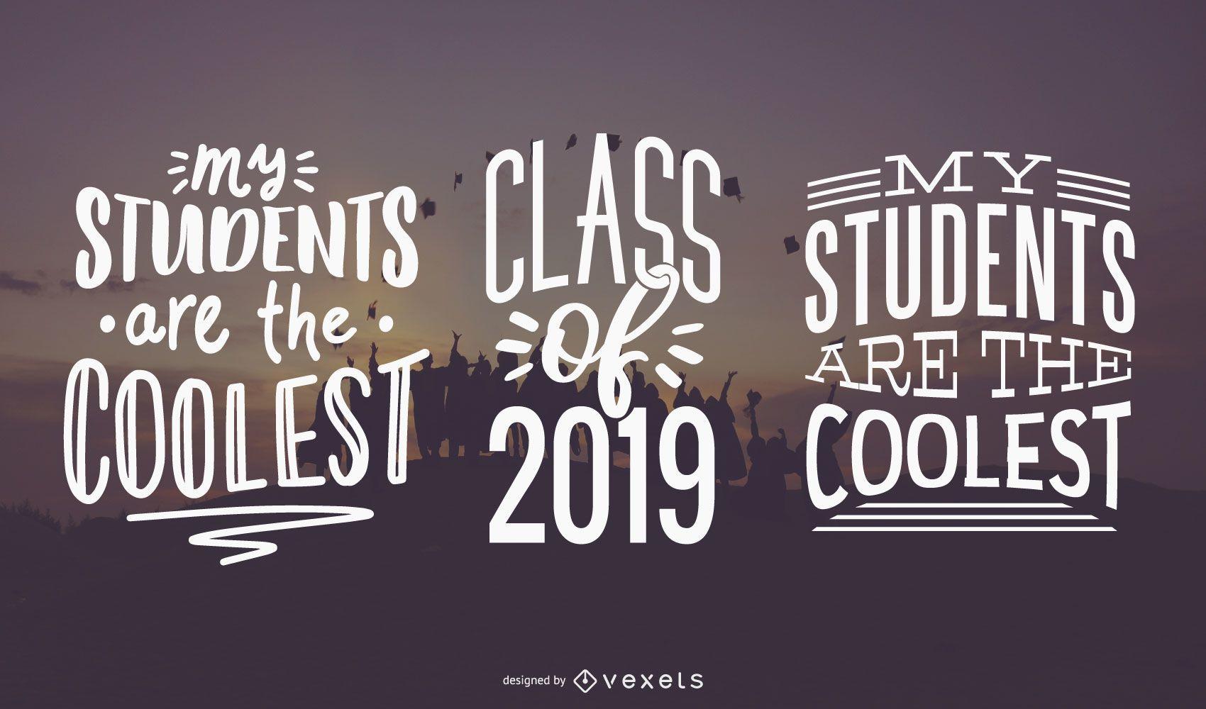 Coolest students lettering set