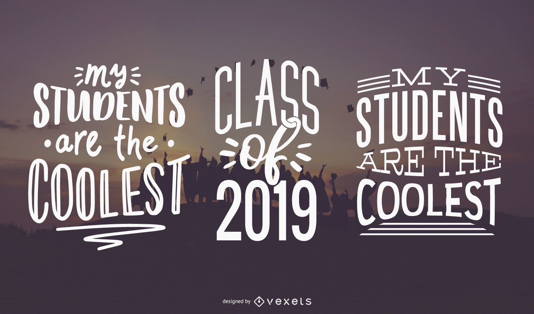 Coolstes Studenten-Schriftzug-Set