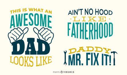 Conjunto de letras de papá genial