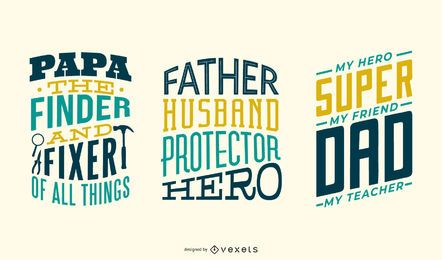 Father lettering set