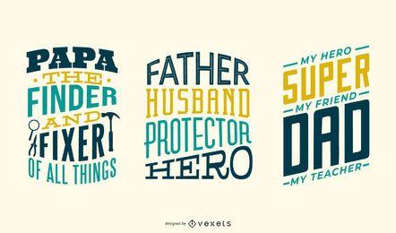 Vater-Schriftzug-Set