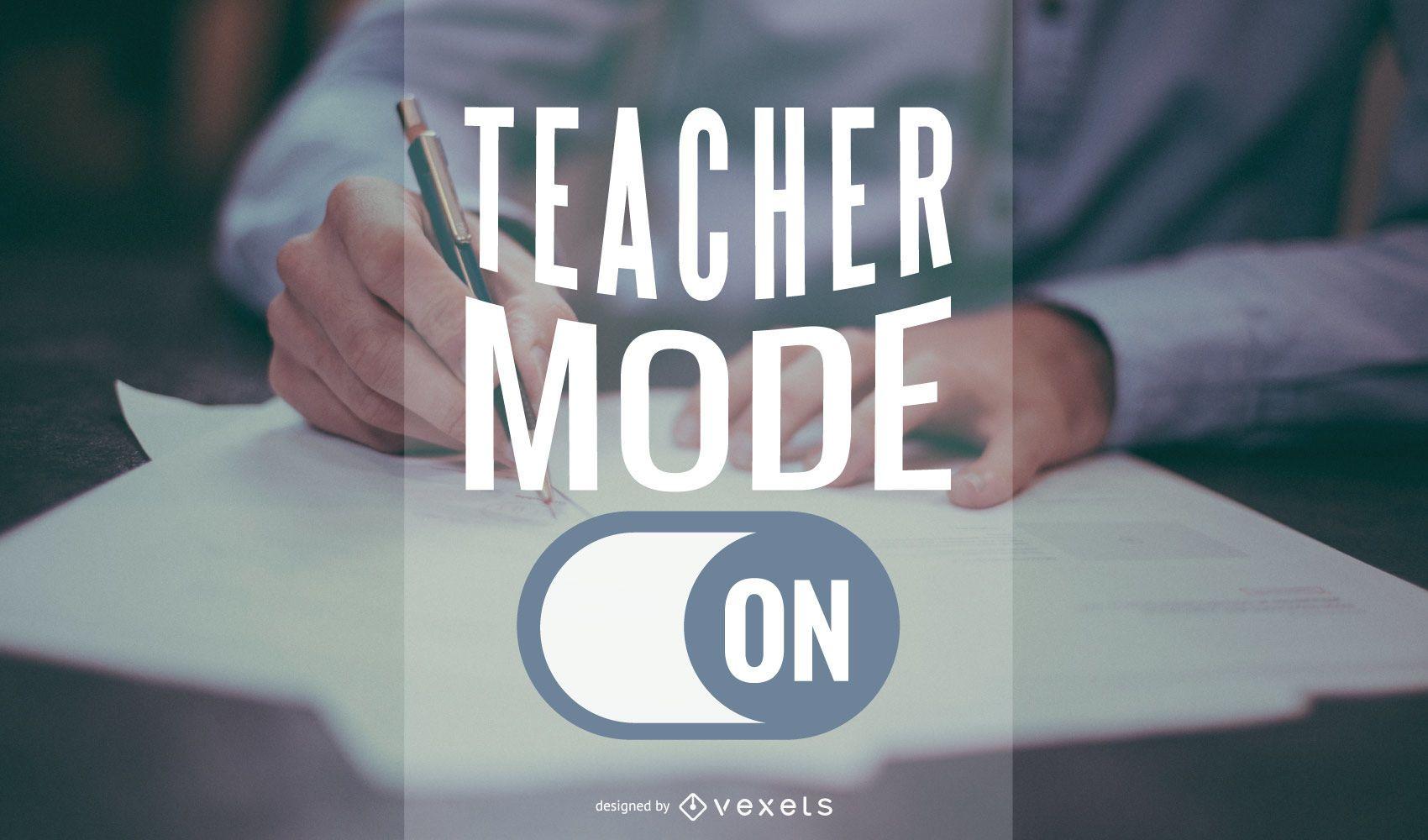 Design de banner vetorial de modo de professor