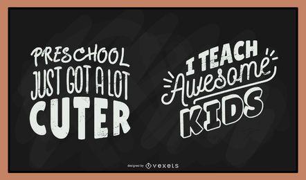 Lehrertafel-Beschriftungssatz