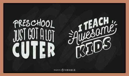 Teacher chalkboard lettering set