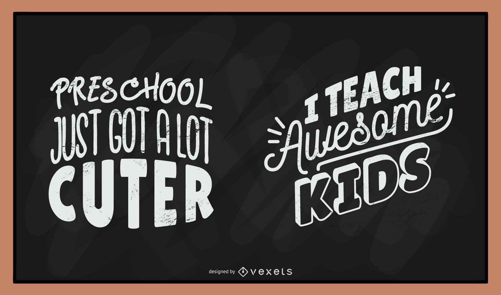 Teacher chalkboard lettering set