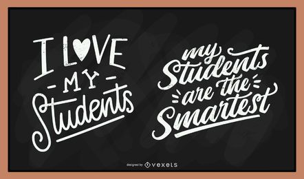 Students chalk lettering set