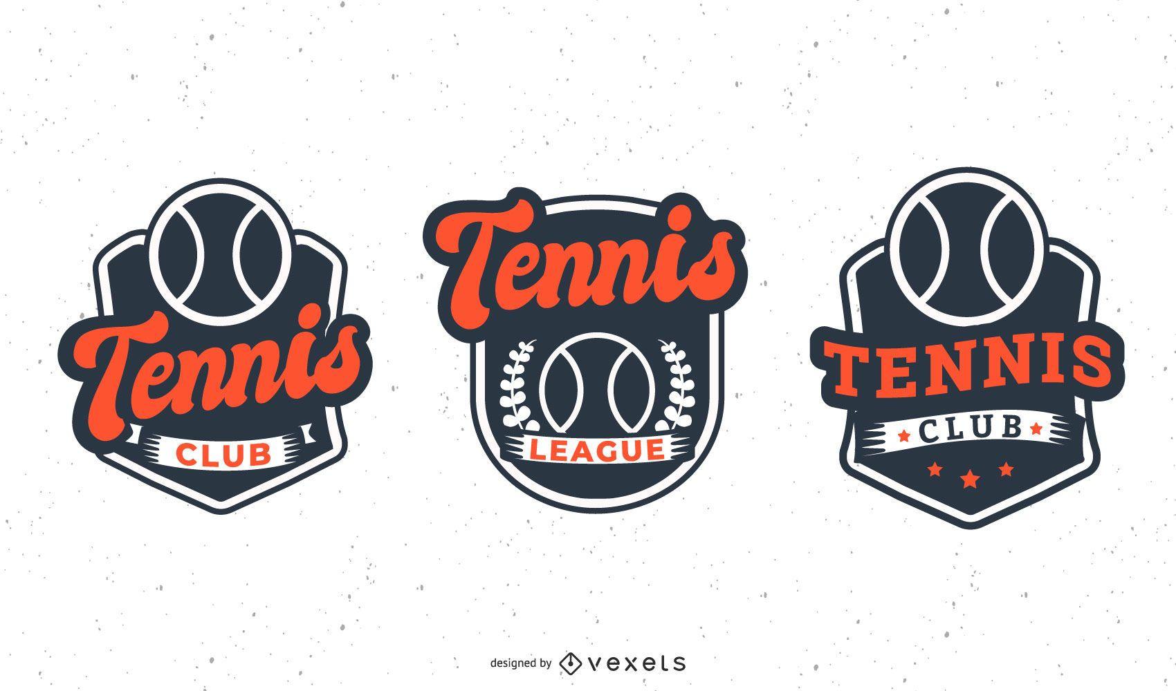 Tennis club badge set