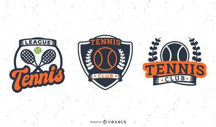 Tennis badge set