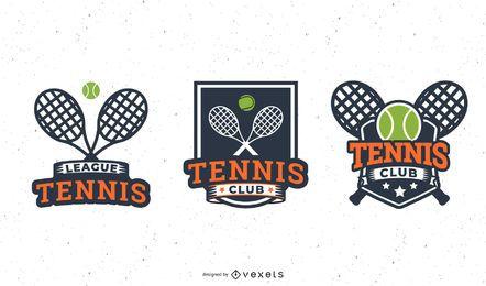 Conjunto de distintivo de raquete de tênis
