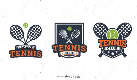 Tennisschläger Abzeichen gesetzt