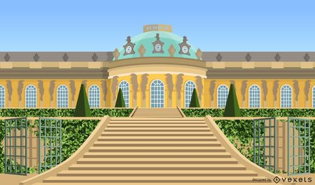 Sanssouci Palace Vector Design