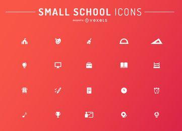 Conjunto de ícones de escola minimalista