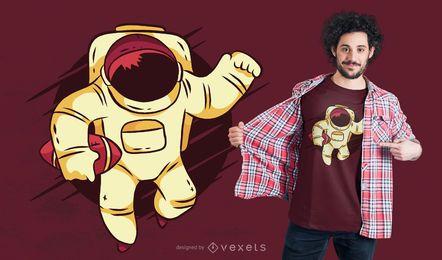Astronautenfußball-T-Shirt Entwurf