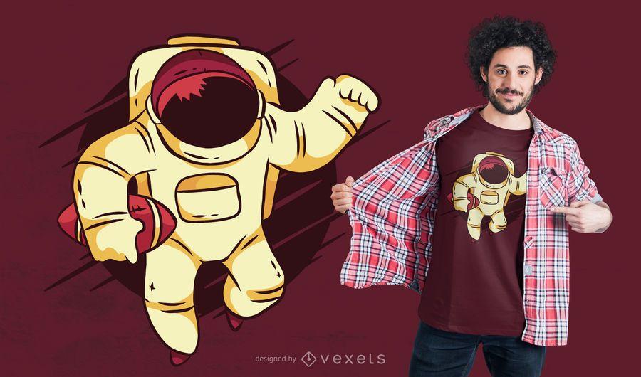 Design de t-shirt de futebol de astronauta