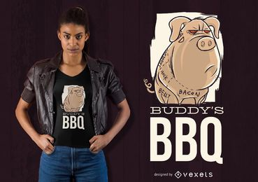 Diseño de camiseta Buddy's BBQ