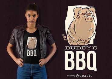 Projeto do t-shirt do BBQ do amigo