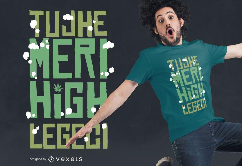 Diseño de camiseta de letras altas