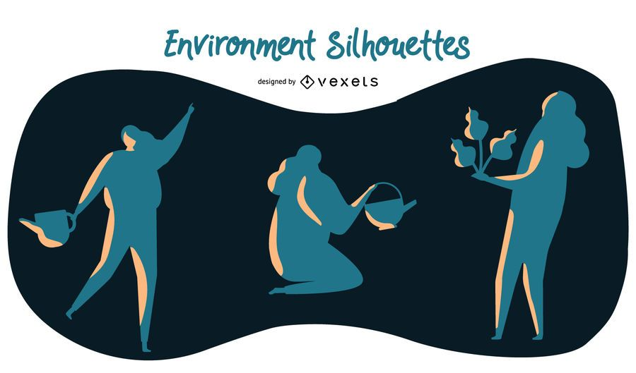 Environment silhouettes set