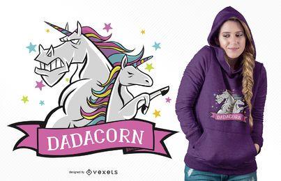 Diseño de camiseta Daddy Unicorn