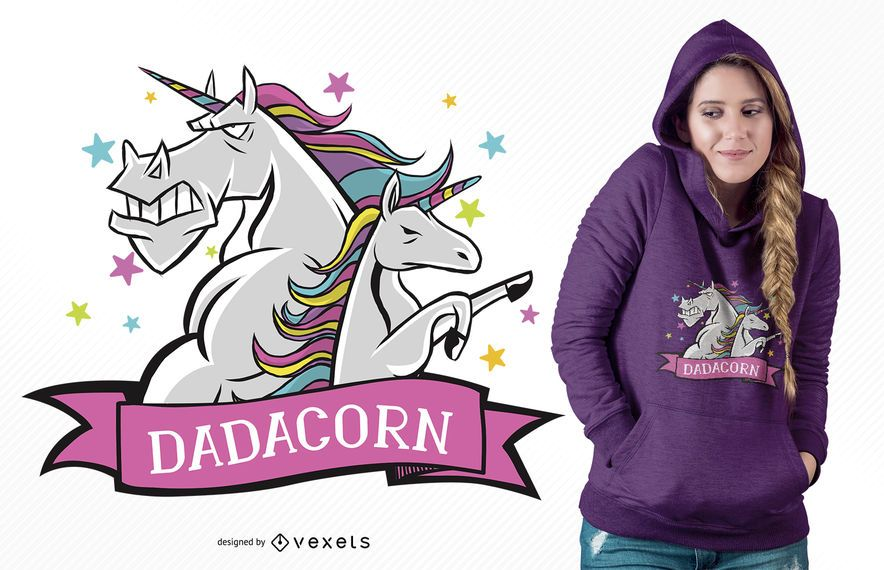 Daddy Unicorn T-Shirt Design