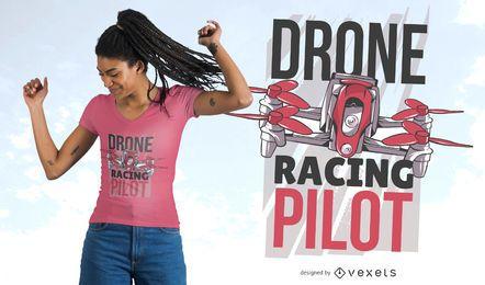 Diseño de camiseta de piloto de carreras de drones.