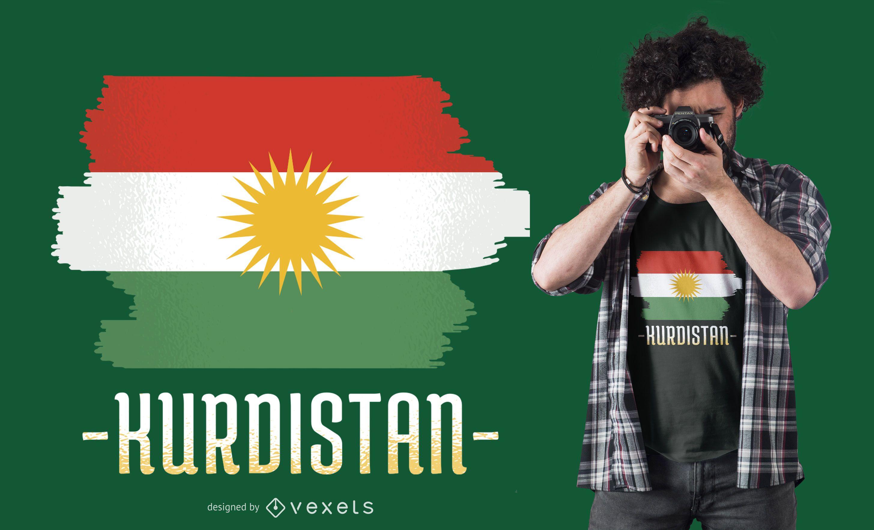 Kurdistan Flag T-shirt Design