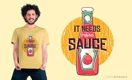 Mais design do t-shirt da ketchup