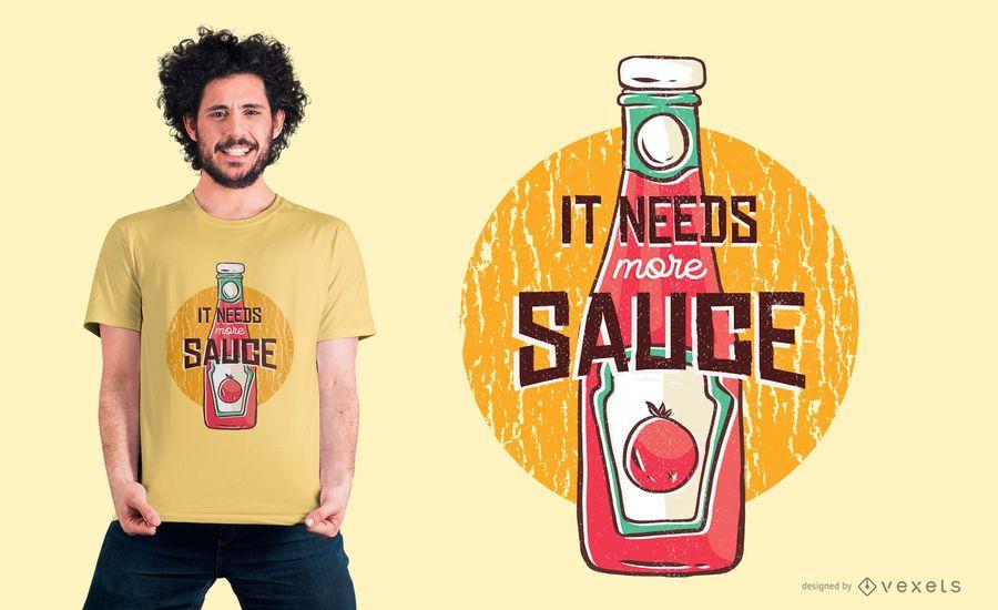 Más Ketchup camiseta de diseño