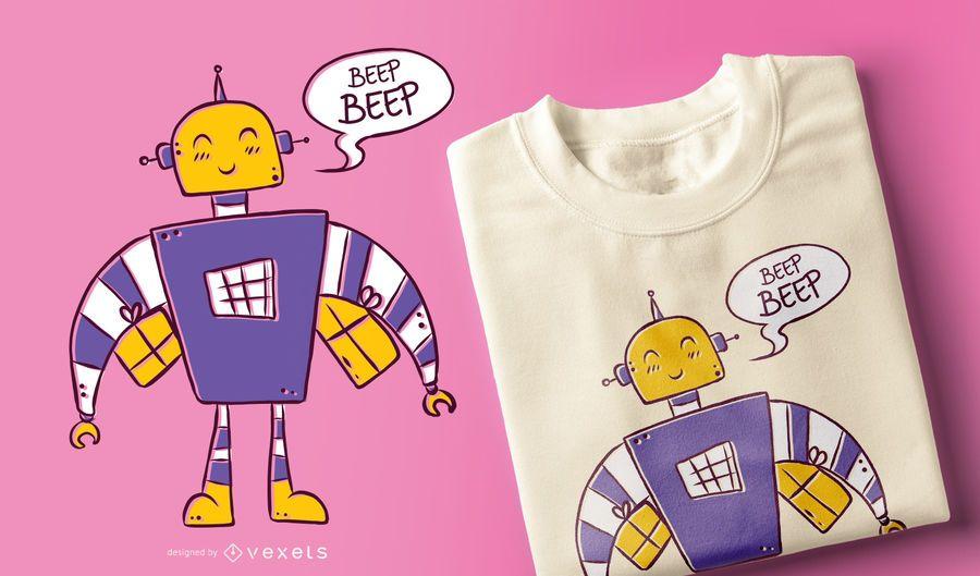 Diseño de camiseta beep beep robot
