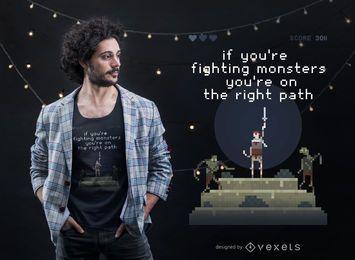 Projeto do t-shirt dos monstro da luta