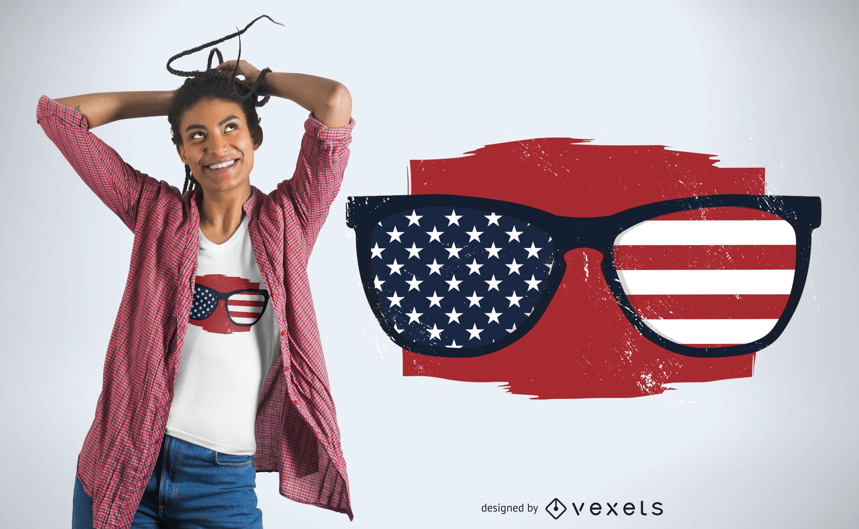 USA sunglasses t-shirt design