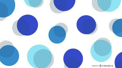 Abstraktes Blau kreist Hintergrund ein
